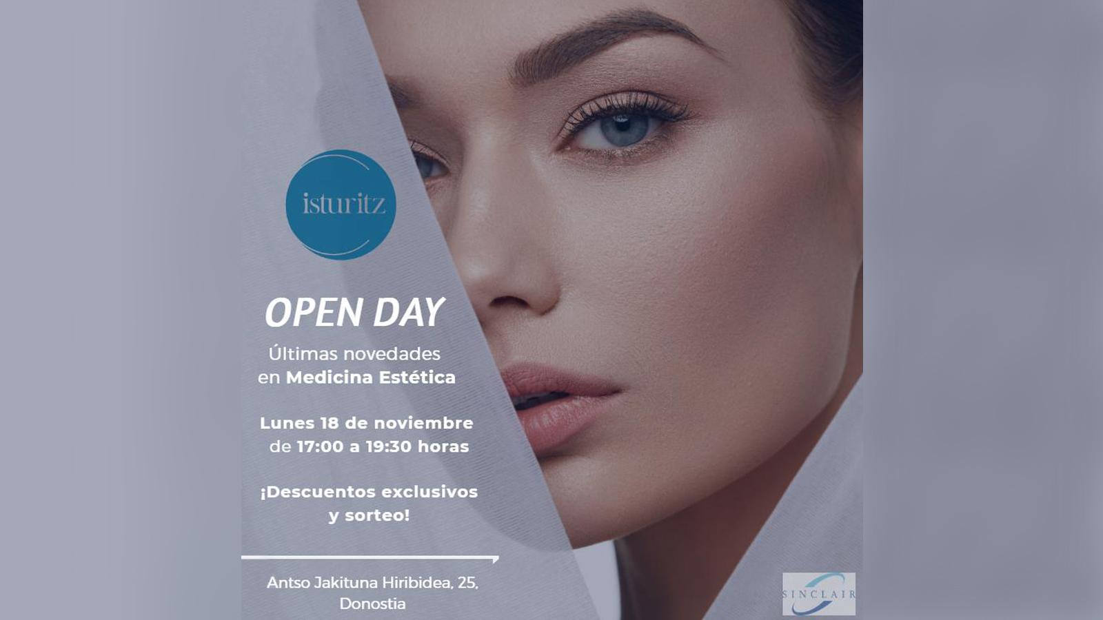 OpenDay clínica Isturitz novedades Medicina Estética noviembre 2019 Donostia San Sebtastián